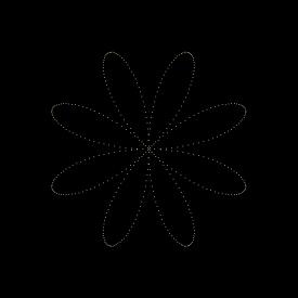 Curve 2: 8-petal Rose